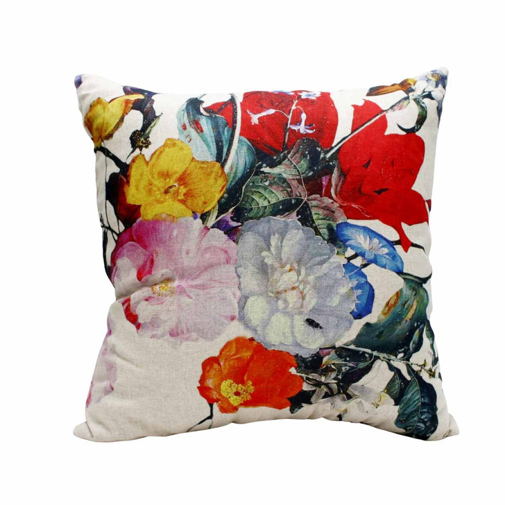 Baroque Floral Flax Scatter Cushion 60x60cm