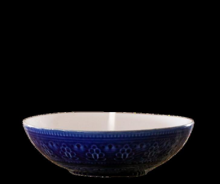 Ceramic Bowl - Dark Blue and White (17cm)