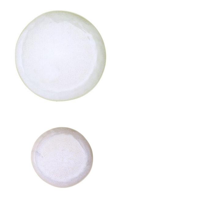 Ceramic Dinnerware - Beige/White Vined Pattern