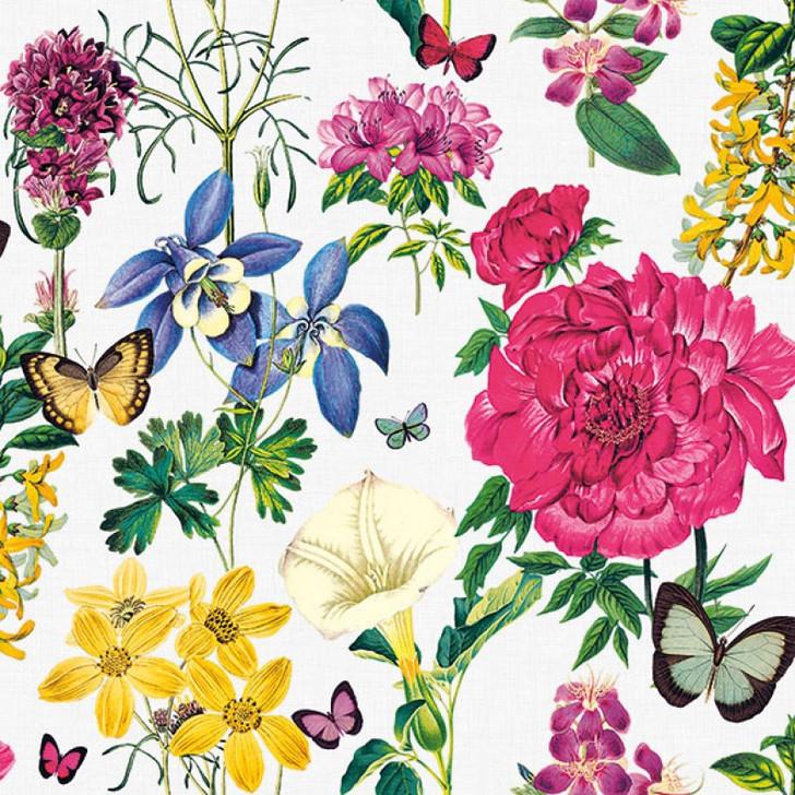 Serviette - Botanical Florals White (33x33cm)