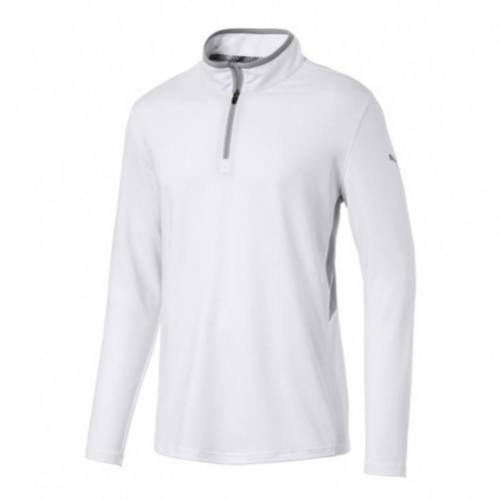 Puma Men's Rotation 1/4 Zip Pullover Bright White