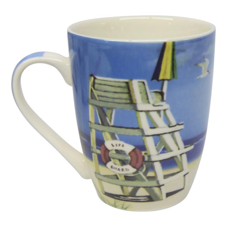 Ceramic Mug - Colourful Lifeguard Stool - 350ml