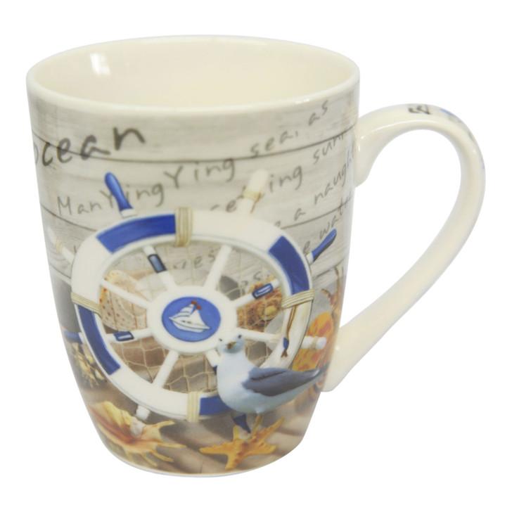 Ceramic Mug - Ship Steering Wheel - 350ml