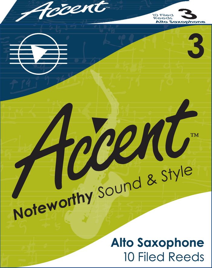 Accent Filed Alto Saxophone Reeds Box/10