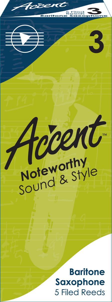 Accent Filed Baritone Saxophone Reeds Box/5