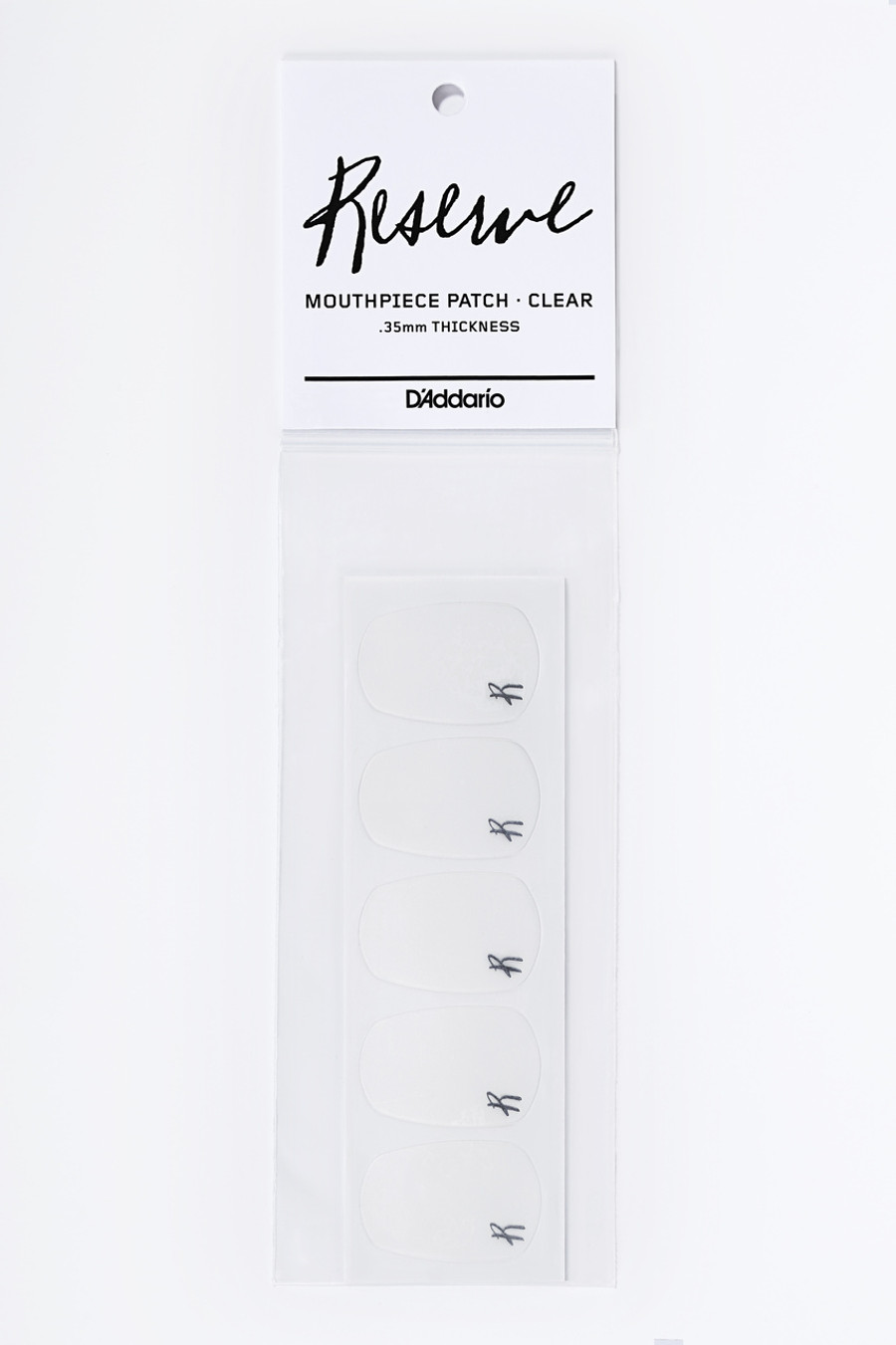 D'Addario Reserve Mouthpiece Patch Clear .35MM Thick