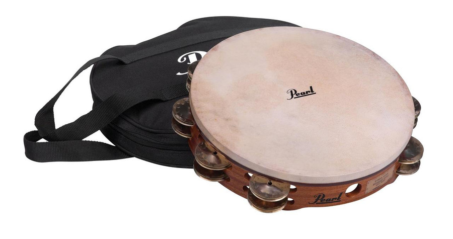 "Pearl 10"" Symphonic Stamped Brass Tambourine Natural"