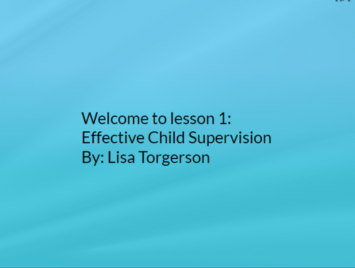 Effective Child Supervision and Observation in a Child Care Facility