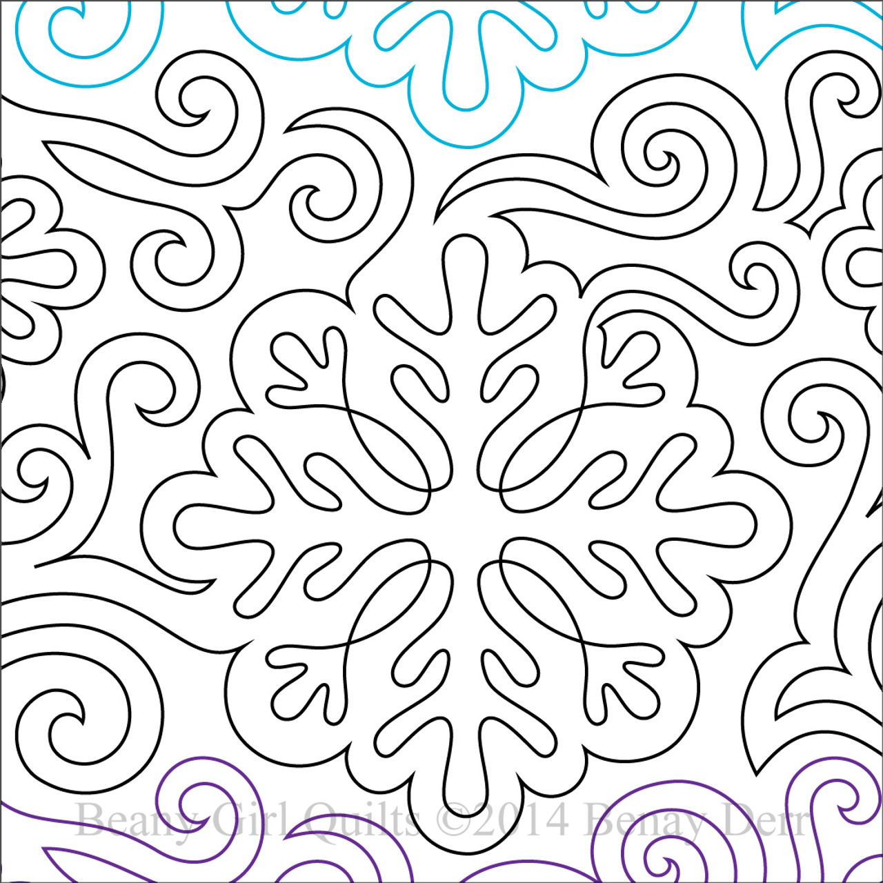 snowflake template for quilting  DANCING SNOWFLAKES | Paper Version