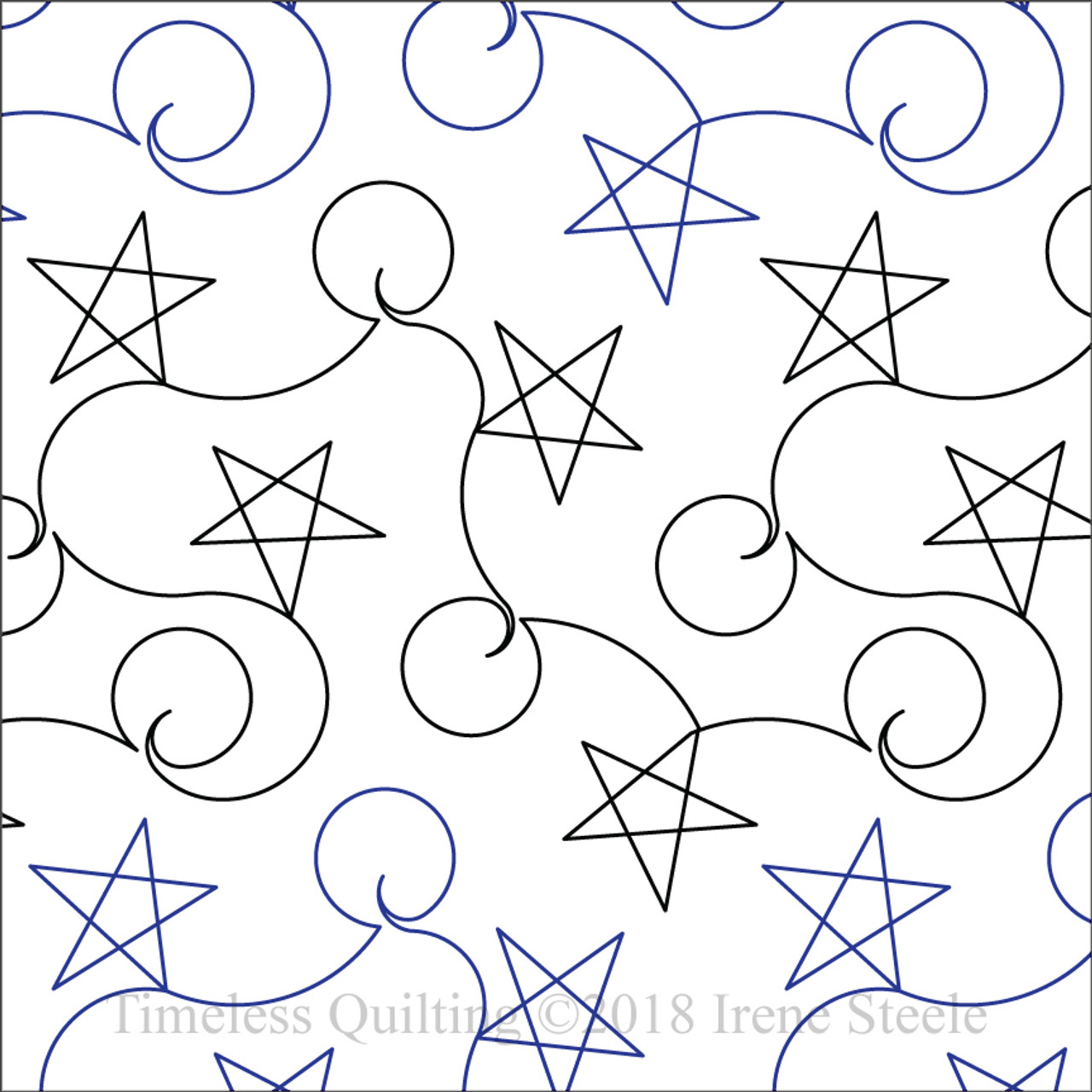 Holiday Stars Machine Quilting Design Paper Timeless Quilting