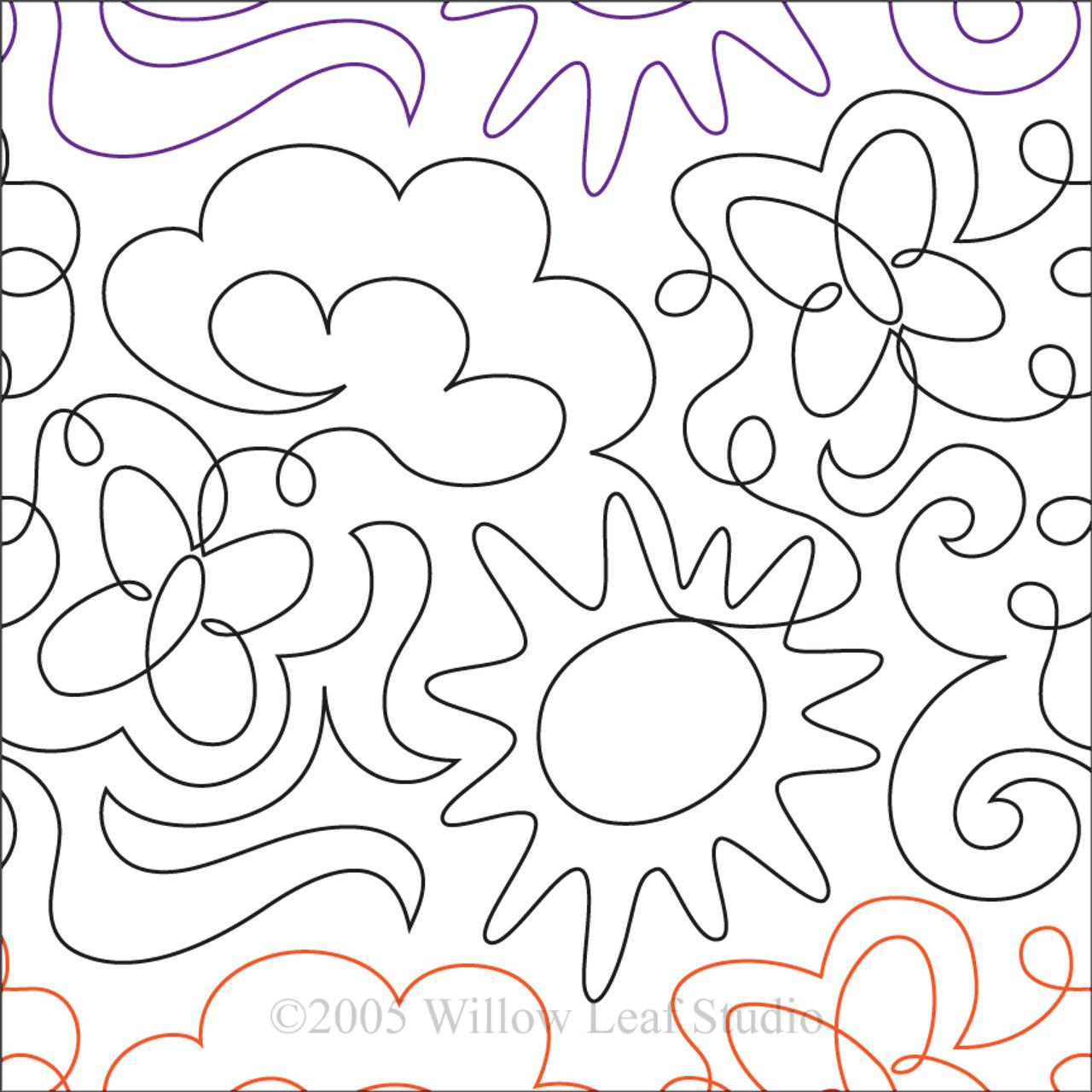 Sunny Day Machine Quilting Design Digital Gali Design