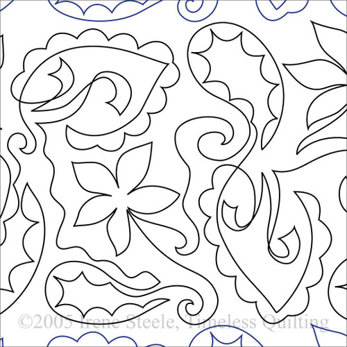 Paisley Delight Machine Quilting Design Paper Timeless Quilting