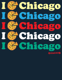 "The Chicago ""I Pizza Chicago"" Unisex/Mens Fashion T-Shirt"