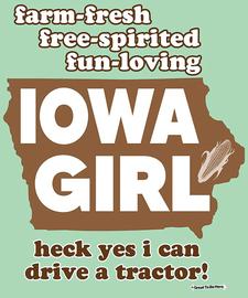 The Iowa Girl Women's Fashion T-Shirt
