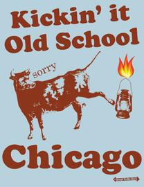 The Chicago Kickin' It Old School Mens/Unisex Fashion T-Shirt