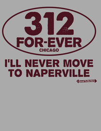 The Chicago 312 FOREVER Mens/Unisex Fashion T-Shirt