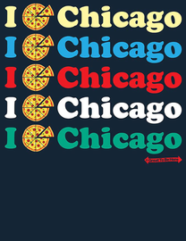 The Chicago I Pizza Women's Fashion T-Shirt
