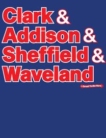 The Chicago Clark, Addison, Sheffield, Waveland Mens/Unisex Fashion T-Shirt