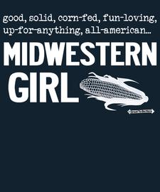 The Midwestern Girl Womens' Fashion T-Shirt