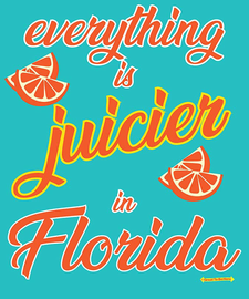 The Florida - Everything is Juicier Women's Fashion T-Shirt