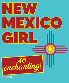 The New Mexico Girl Women's Fashion T-Shirt