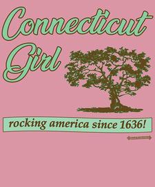 The Connecticut Girl Women's Fashion T-Shirt