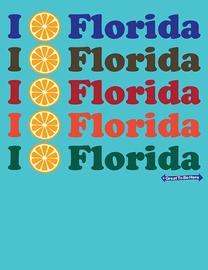"The Florida ""I Orange / I Love Florida"" Women's Fashion T-Shirt"