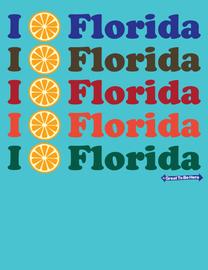 """The Florida """"I Orange / I Love Florida"""" Men's/Unisex Fashion T-Shirt"""