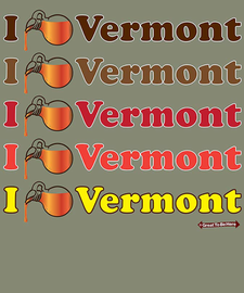 """The Vermont """"I Syrup / I Love Vermont"""" Women's Fashion T-Shirt"""