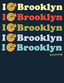 The Brooklyn Pizza / I Love Brooklyn Women's Fashion T-Shirt