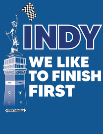 """The Indianapolis """"We Like To Finish First"""" Indy Women's Fashion T-Shirt"""