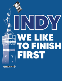 """The Indianapolis """"We Like To Finish First"""" Indy Men's/Unisex Fashion T-Shirt"""