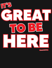 """The """"It's Great To Be Here"""" Brand Flagship Women's Fashion T-Shirt"""