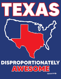 """The Texas """"Disproportionately Awesome"""" Women's Fashion T-Shirt"""