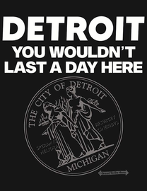 The Detroit You Wouldn't Last a Day Here Women's Fashion T-Shirt
