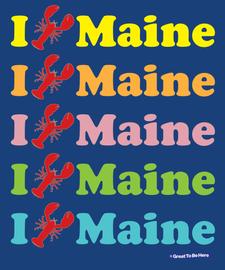 "The ""I Lobster Maine"" Unisex/Men's Fashion T-Shirt"