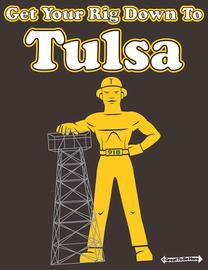 The Tulsa Driller Men's/Unisex Fashion T-Shirt