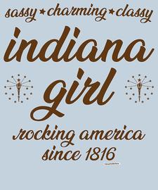 The Indiana Girl Women's Fashion T-Shirt