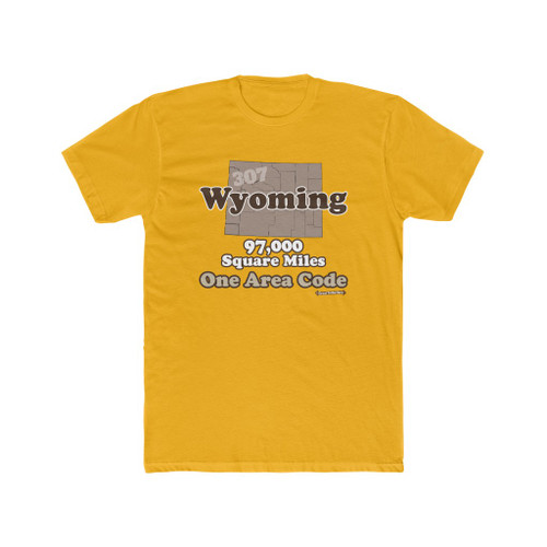 """The Wyoming """"One Area Code"""" Men's/Unisex Fashion T-Shirt"""