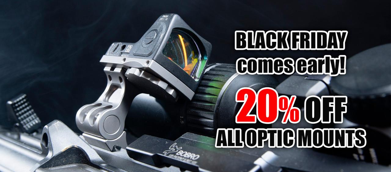Black Friday 20% Off Optic Mounts