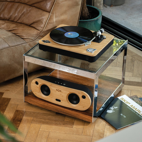 Stir It Up Wireless Turntable With Bag of Riddim Bluetooth® Speaker