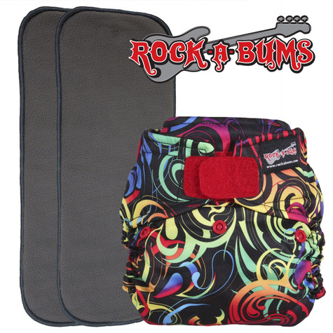 Rock-a-Bums 5-in-1 Diaper with Hook & Loop