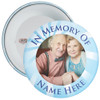 In Memory Of Photo Badge (blue rays)