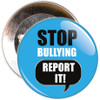 Pack of Blue Stop Bullying Report It Badges - Badge Bucket