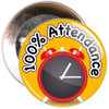 Pack of 100% School Attendance Badges - Badge Bucket