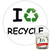 Pack of I Recycle Badges - Badge Bucket