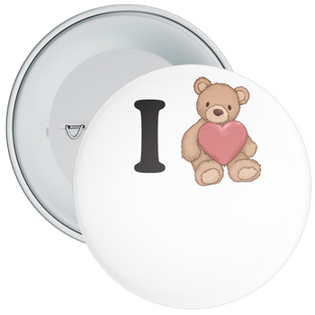 Custom I Love Badge 7
