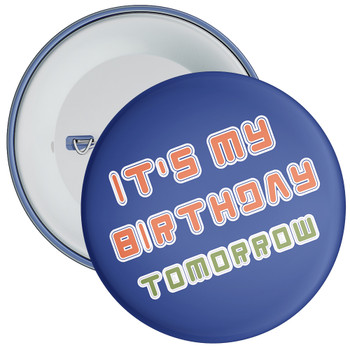 Blue It's My Birthday Badge