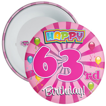 63rd Birthday Badge
