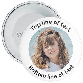 White Bordered Photo Badge